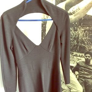 Zac Posen wool crepe cutout dress